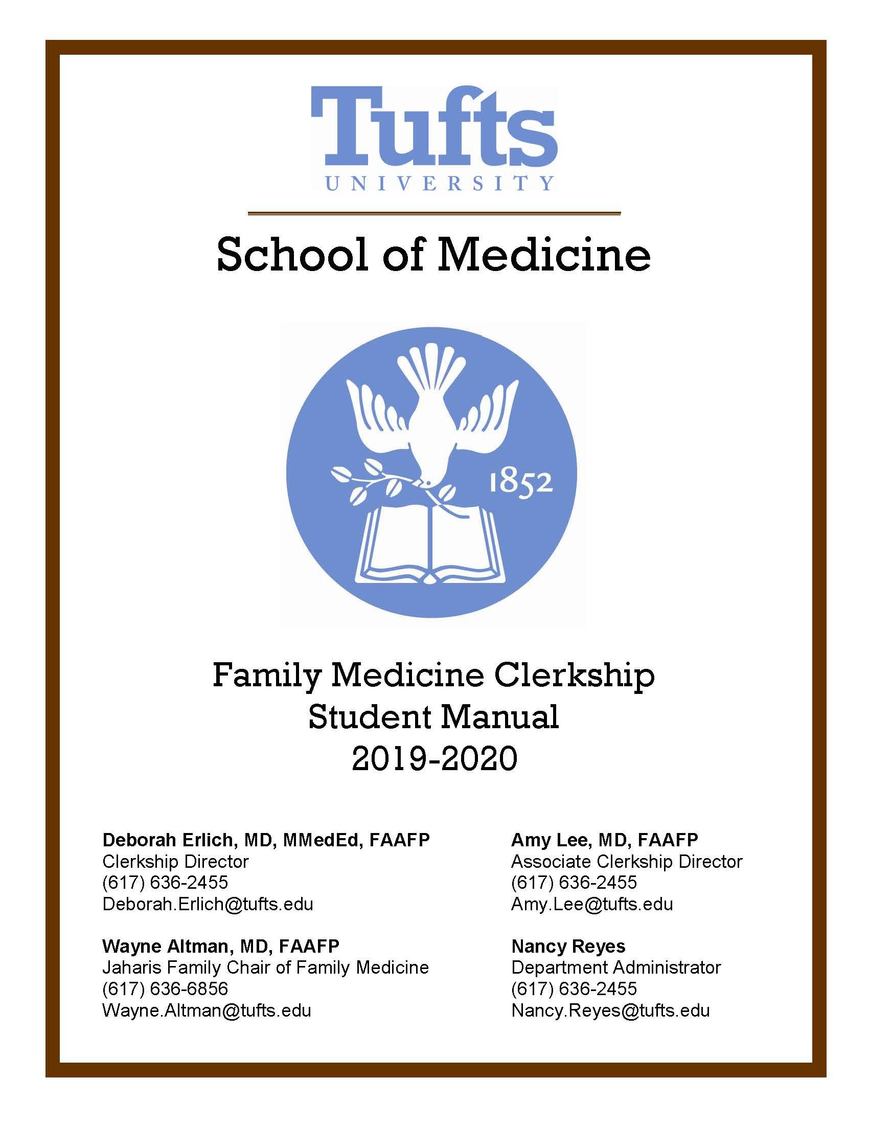 Cover image for 2019-2020 Family Medicine Clerkship